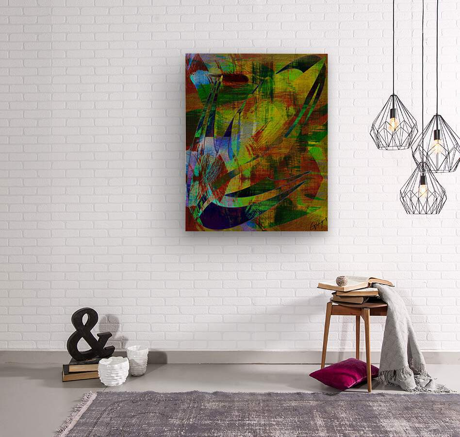 ABSTRACT-1007 SPATIAL  Wood print