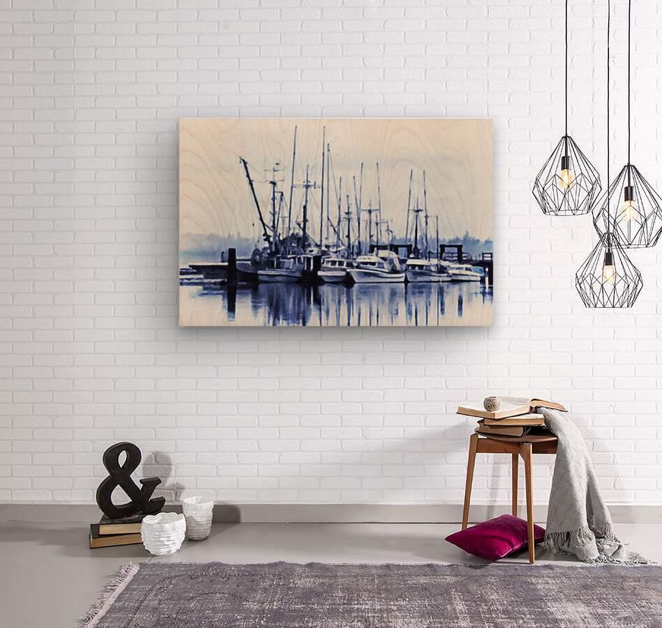Fishers Wharf  Wood print