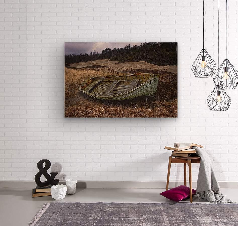 Clinker-built Rowboat  Wood print