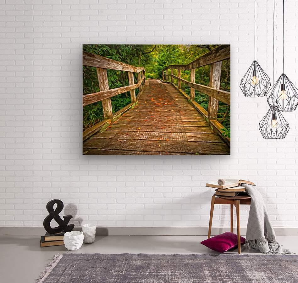 Bridge in the Sanctuary  Wood print