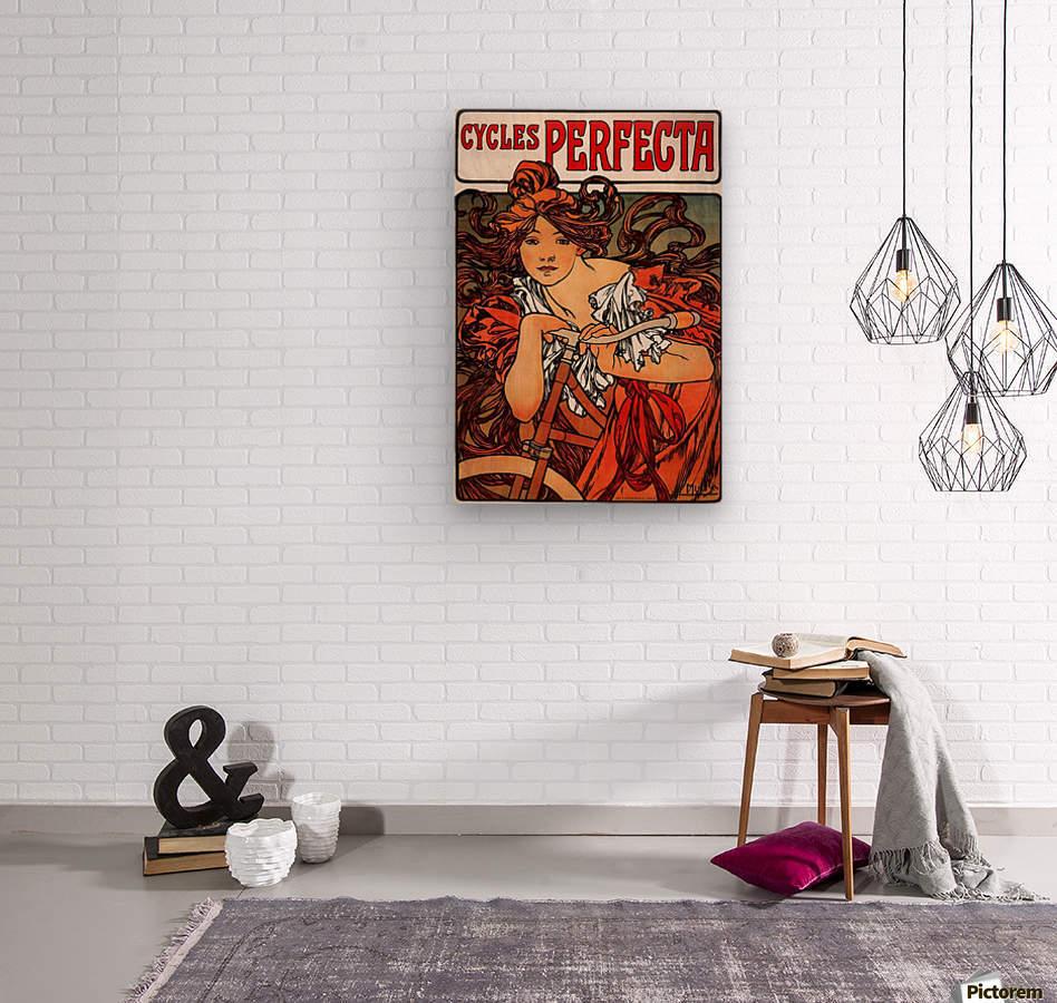 Cycles Perfecta by Alphonse Mucha  Wood print