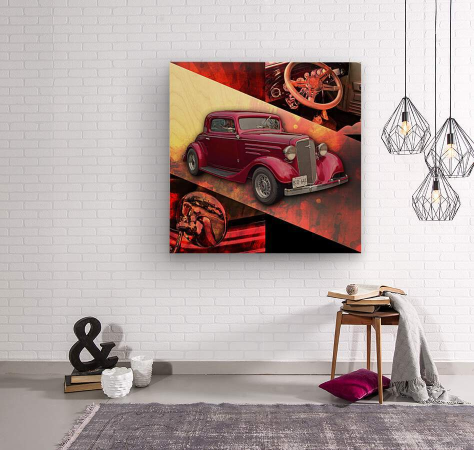 1935 Chevrolet 5-Window Coupe  Wood print