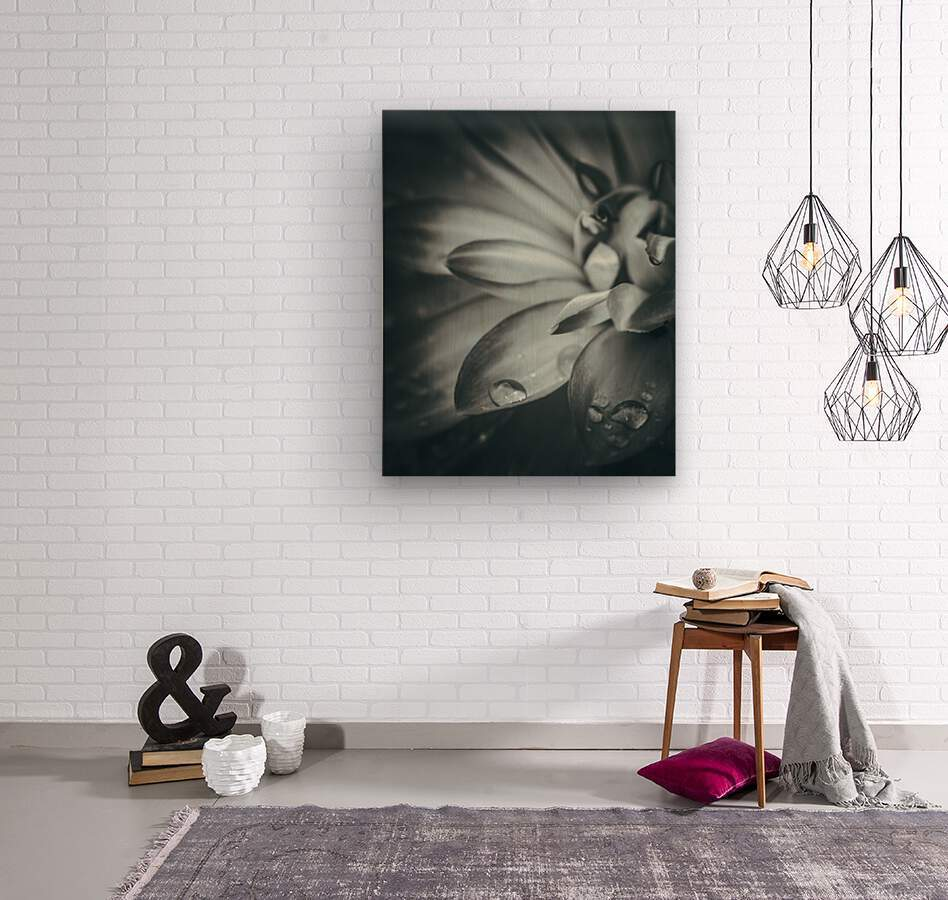 Flowerful Study In A Monochromatic Vibe  Wood print