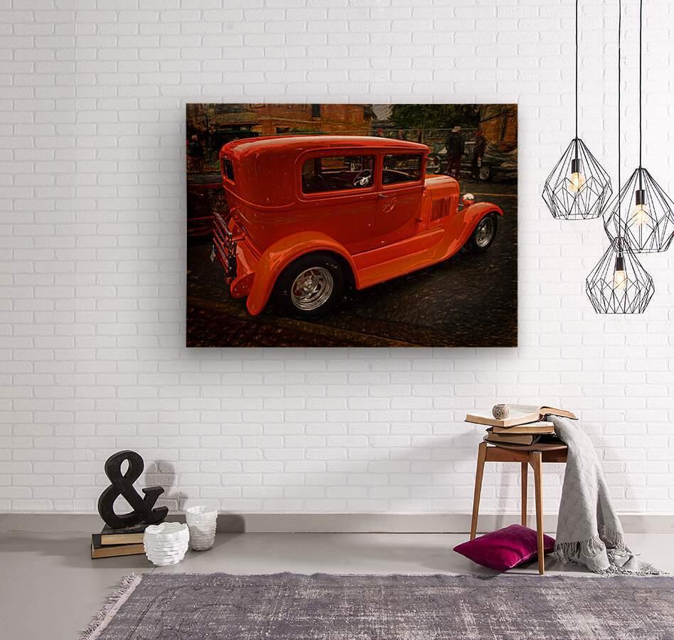 1929 Ford Tudor Sedan  Wood print