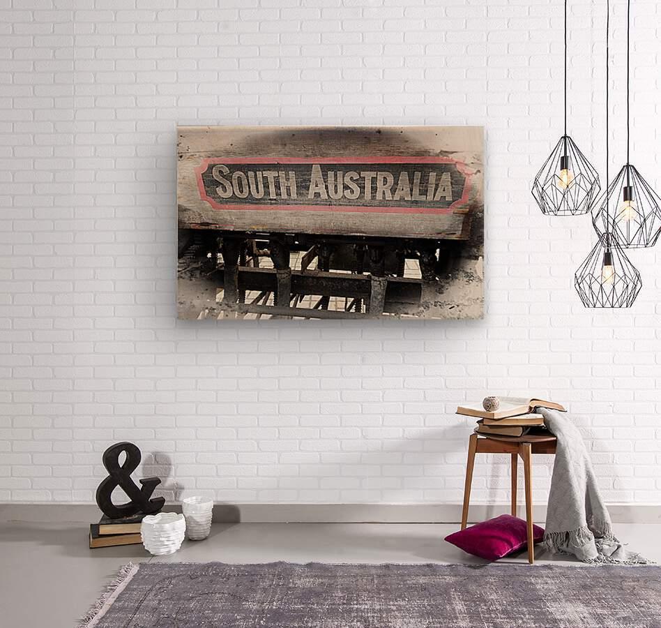 South Australia Sign  Wood print