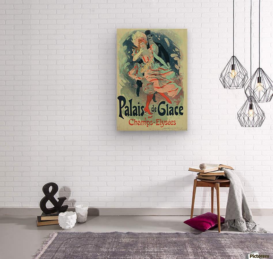 Palais de Glace Vintager Poster  Wood print