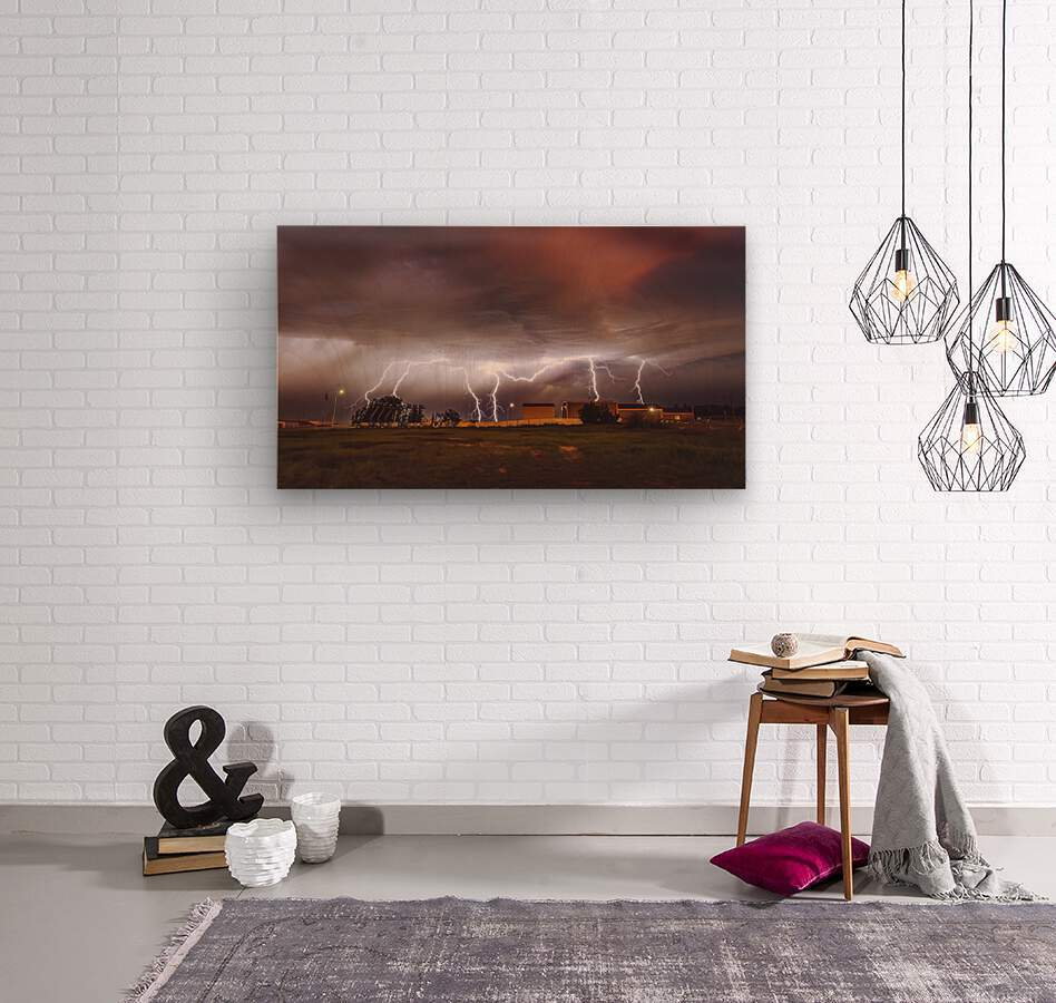 Light em Up   Wood print