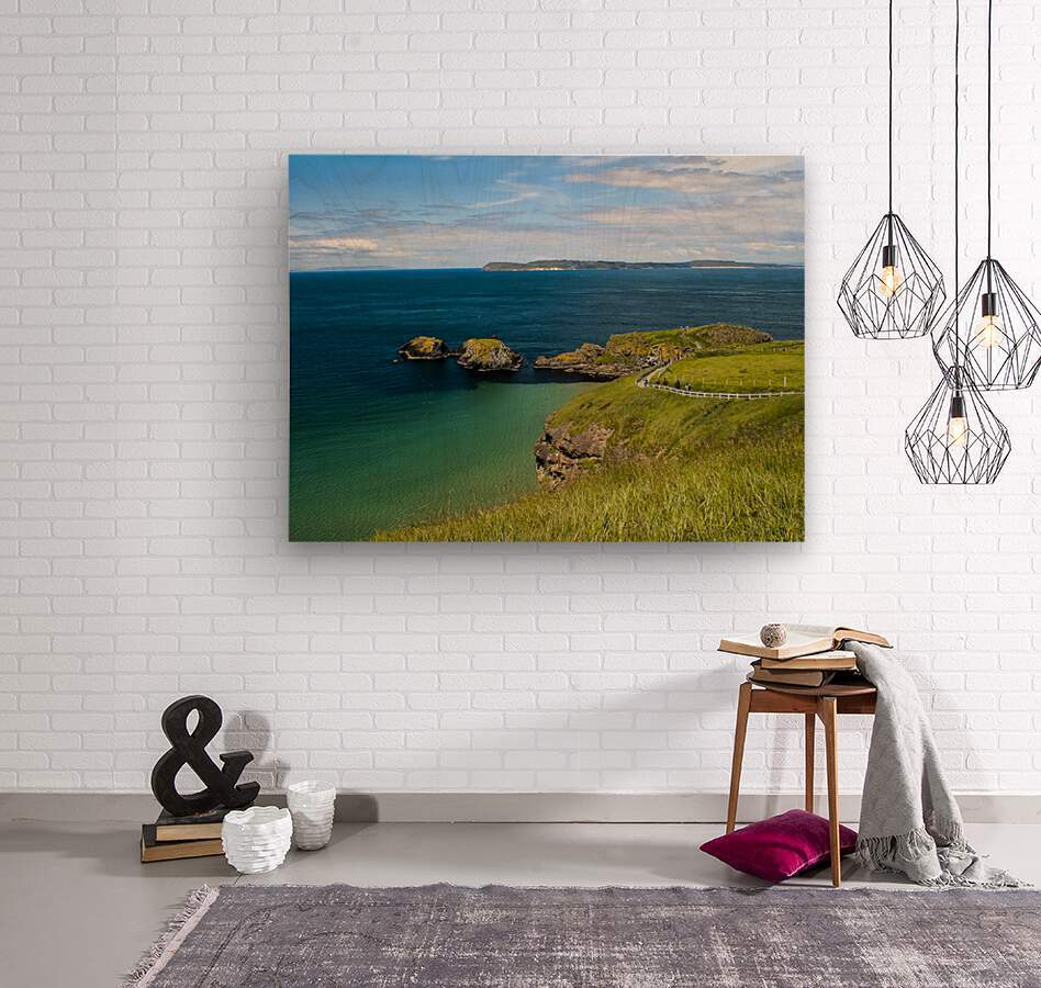 Northern Ireland Coast View  Wood print