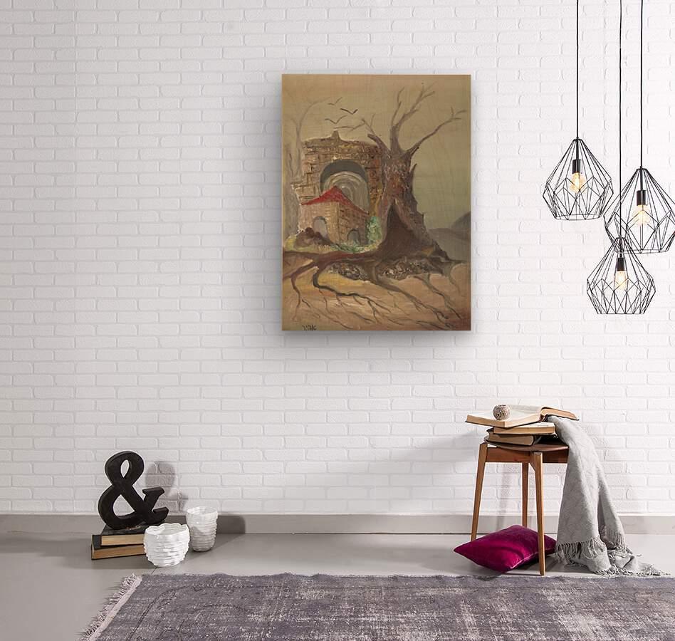 RA 035 - בית קטן בערבה  Wood print