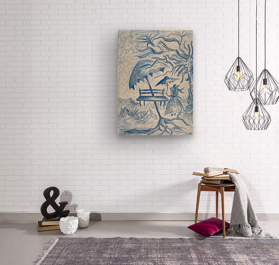 RA 021 - גברת - Lady  Wood print
