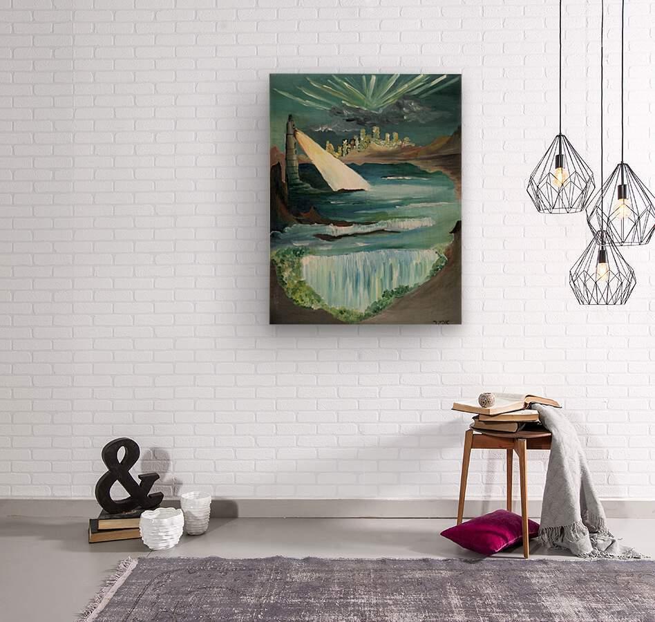 RA 040 - אור המגדלור - Lighthouse light  Wood print