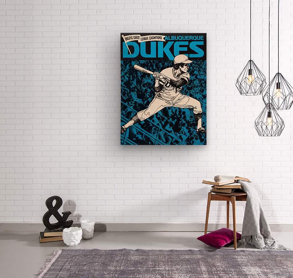 1973 Albuquerque Dukes Baseball  Poster  Wood print