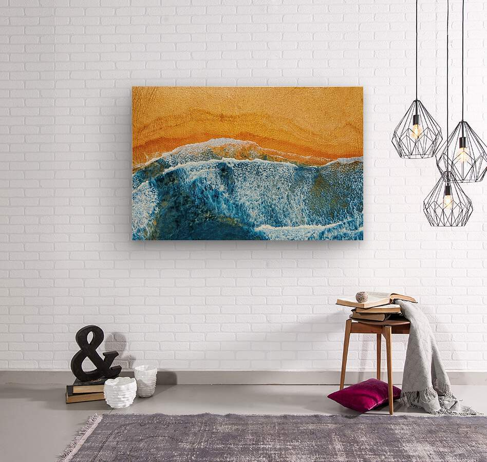 Golden Beach I  Wood print