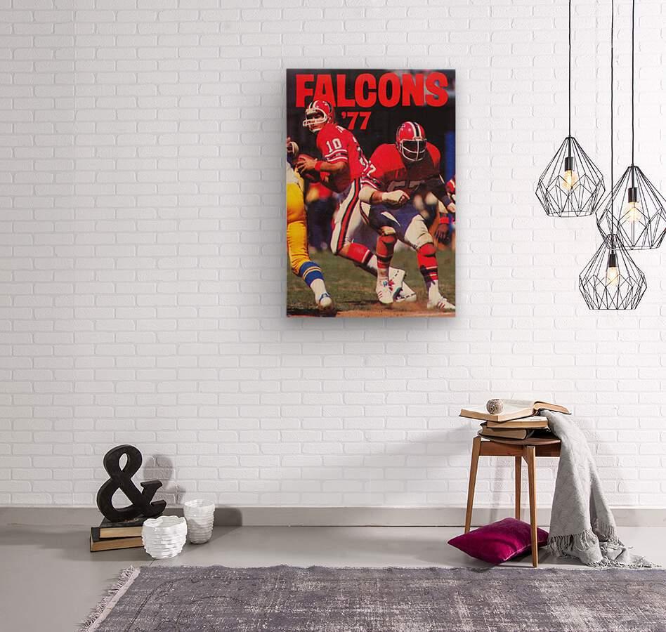 1977 Atlanta Falcons Retro Football Poster  Wood print