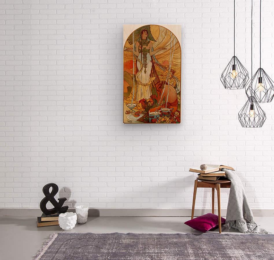 Salammbo by Alphonse Mucha  Wood print