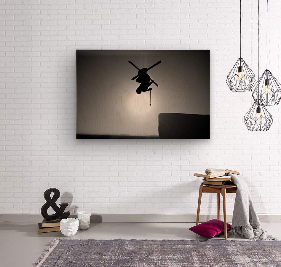 Icarus  Wood print