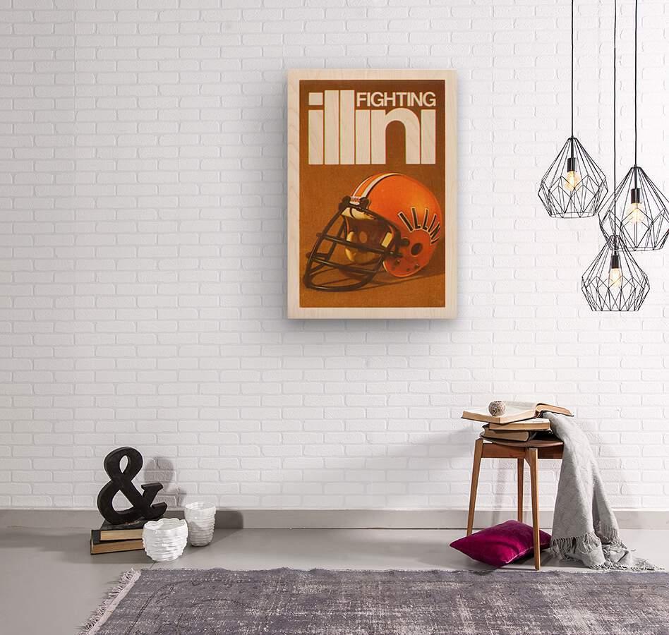 1980 Illinois Illini Football Poster  Wood print