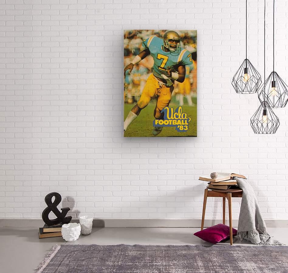 1983 UCLA Bruins Football Poster  Wood print