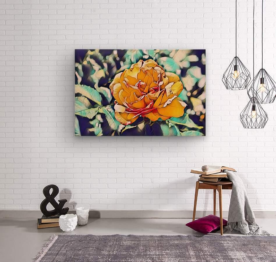 Rose in Yellow  Wood print