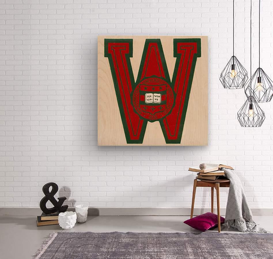 Vintage Fifties Washington University in Saint Louis  Wood print
