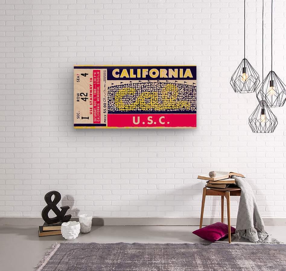 1969 Cal Bears vs. USC Trojans  Wood print