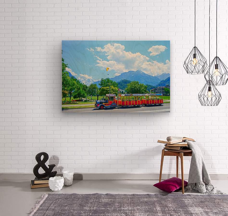 One Day in Interlaken Switzerland 2 of 3  Wood print