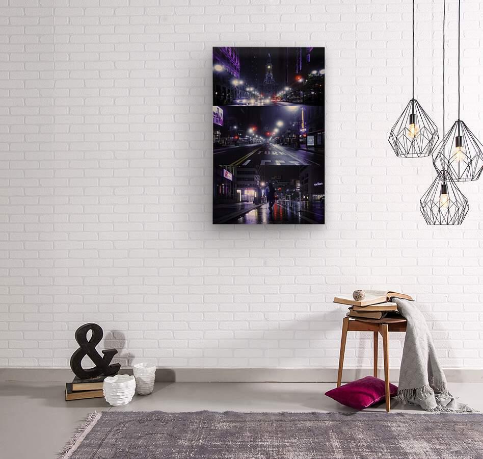 Electric City  Wood print