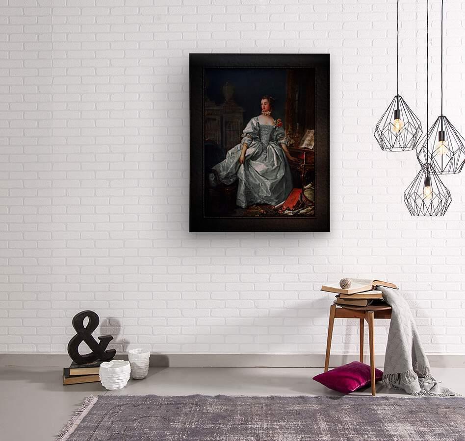 La Marquise de Pompadour by Francois Boucher Classical Fine Art Xzendor7 Old Masters Reproductions  Wood print
