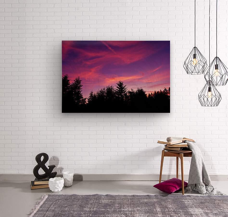Summer Sunset Pacific Northwest United States  Wood print