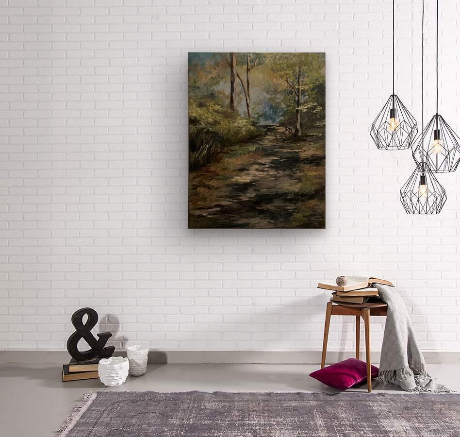 Park walk  Wood print