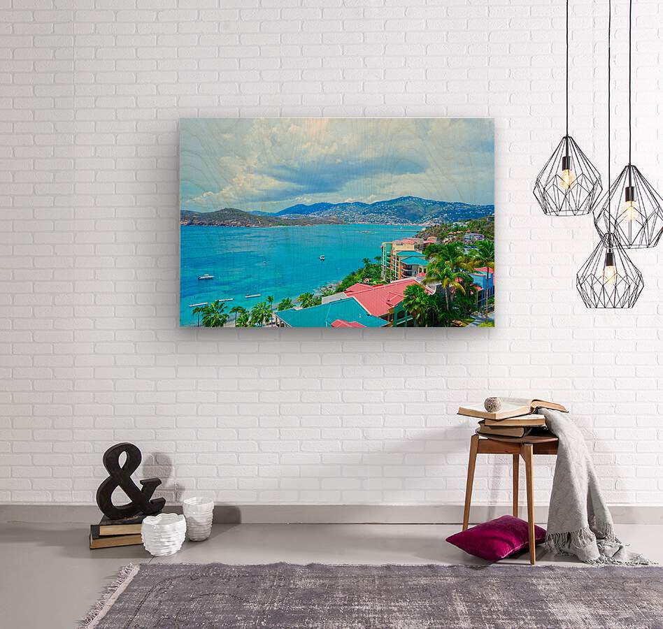 Pacquereau Bay Saint Thomas Caribbean Islands  Wood print
