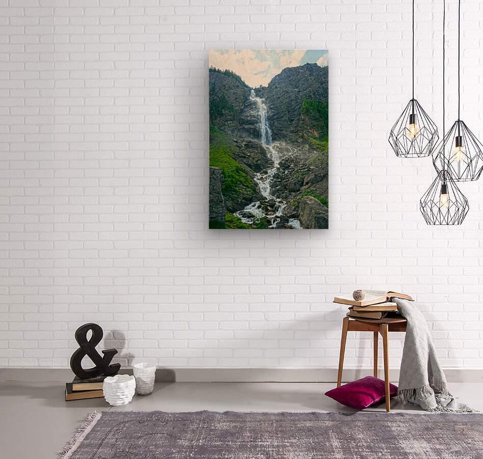 Engstligen Falls Adelboden Switzerland in the Bernese Highlands  Wood print