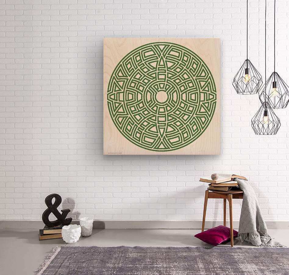 Maze 4801  Wood print