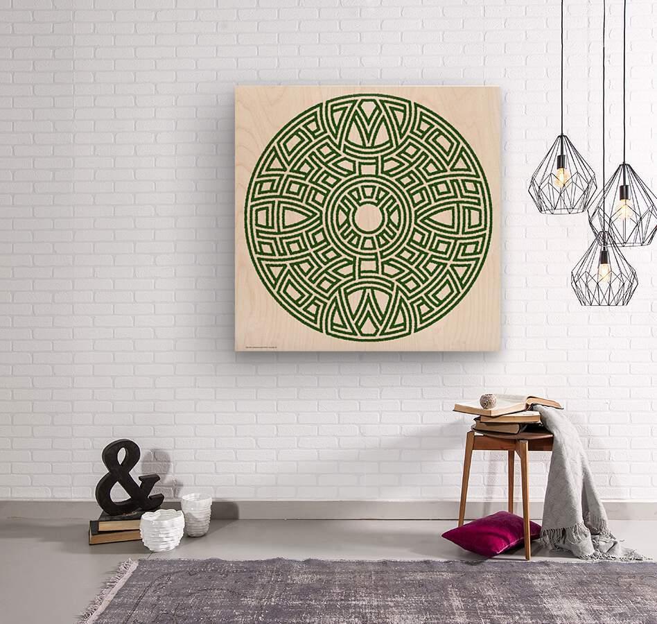 Maze 4811  Wood print
