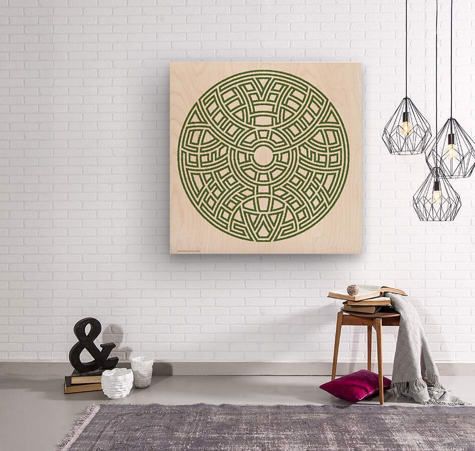 Maze 4812  Wood print