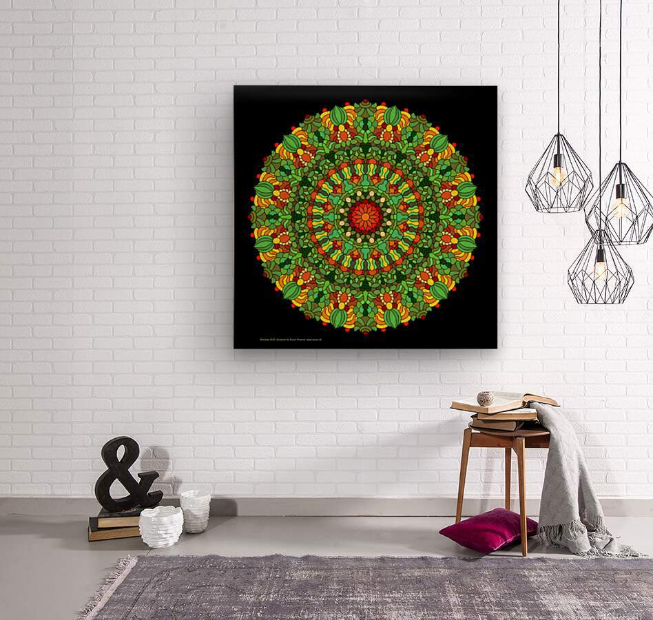 Mandala 2029  Wood print