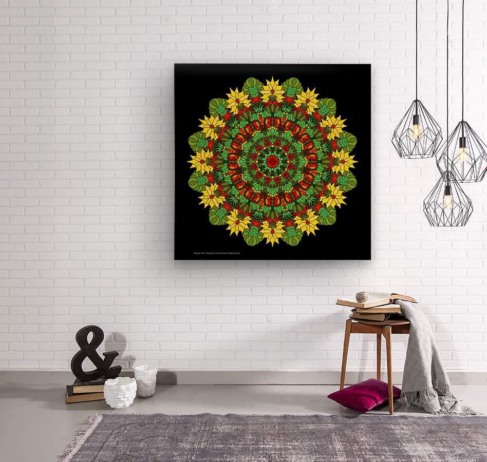Mandala 2012  Wood print