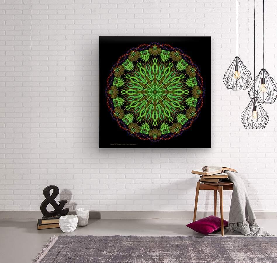 Mandala 2007  Wood print
