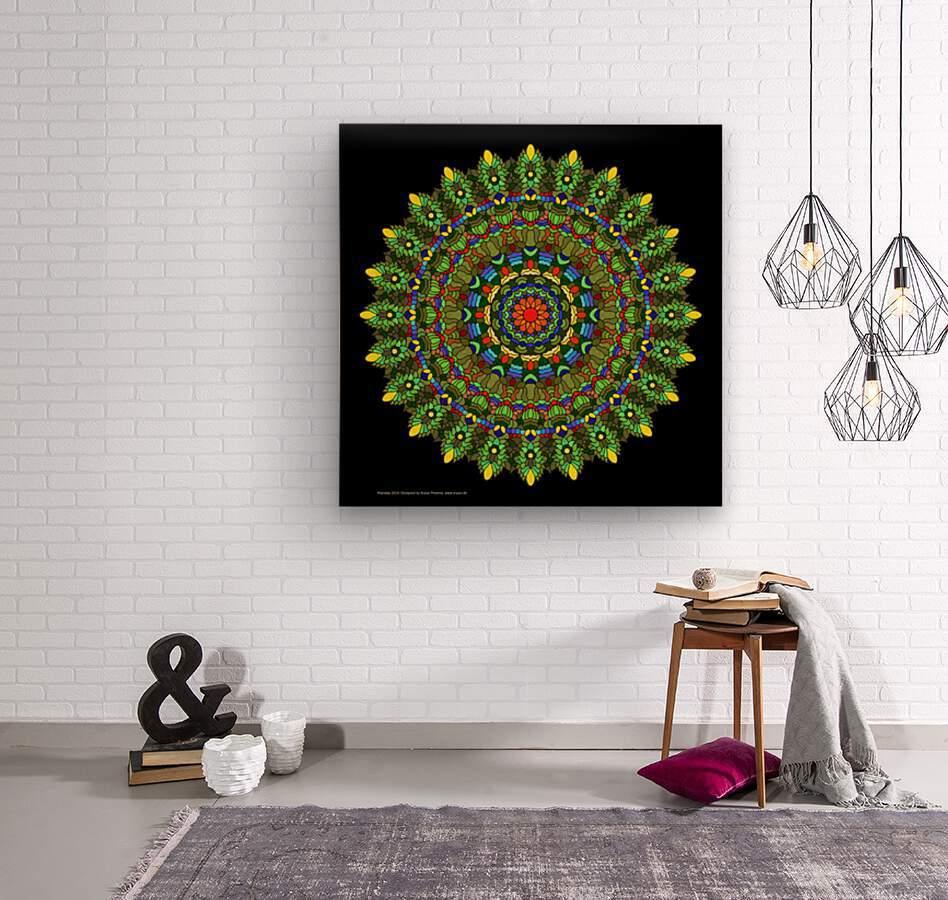 Mandala 2014  Wood print