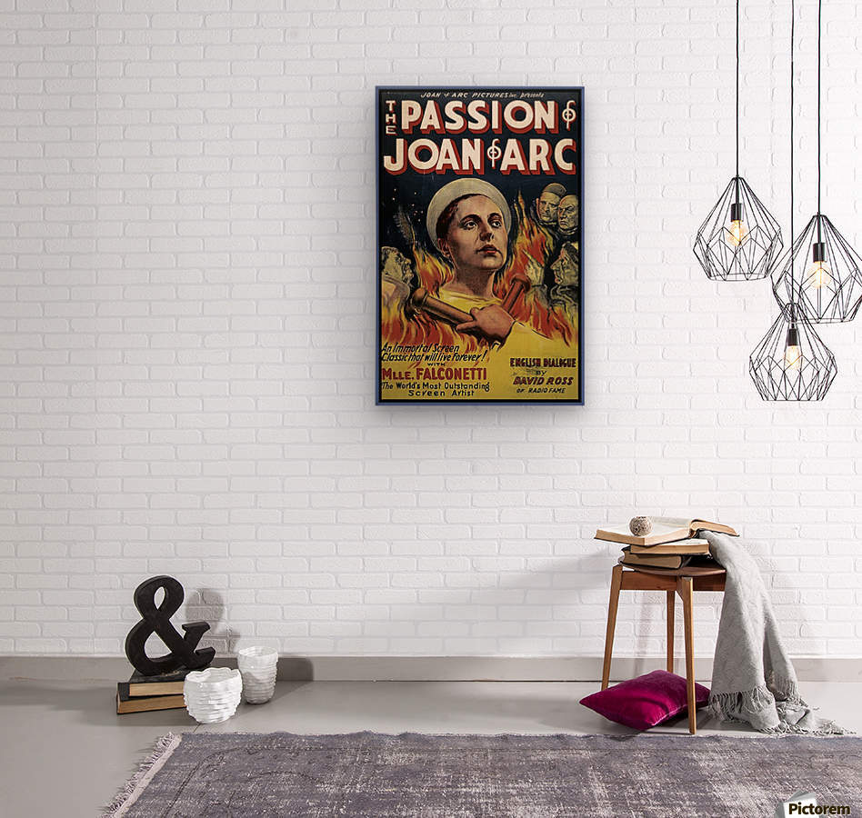 The Passion of Joan of Arc 1928 Ad  Wood print