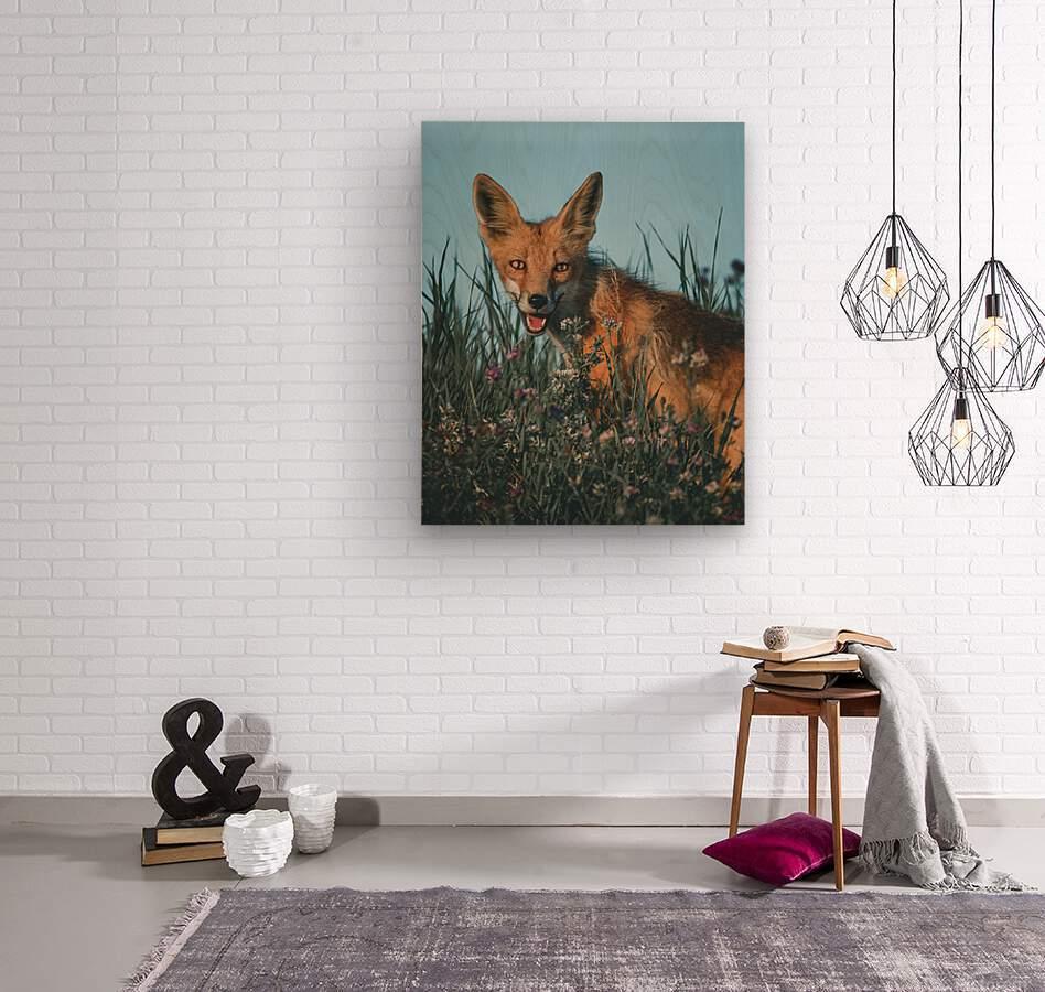 Fantastic Fox   Wood print