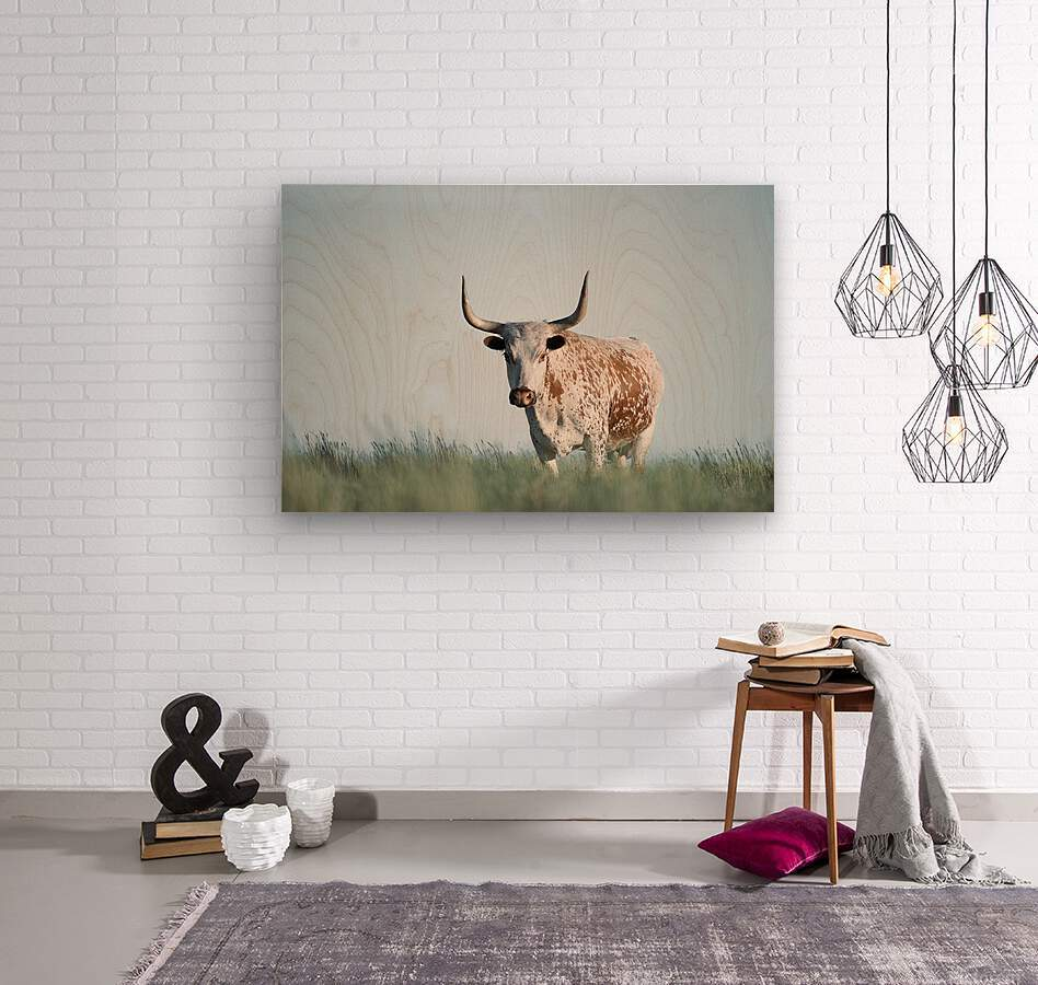 No Bull   Wood print