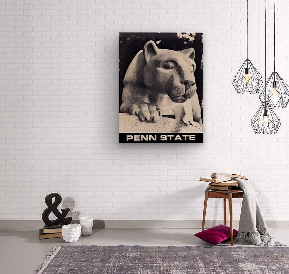 1988 Penn State Nittany Lion Shrine Art  Wood print