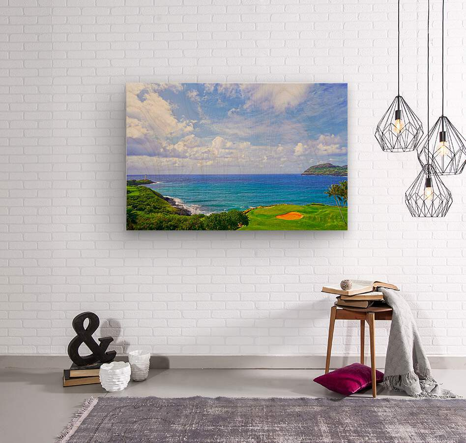 Beautiful Skies over Nawiliwili Bay in Kauai  Wood print