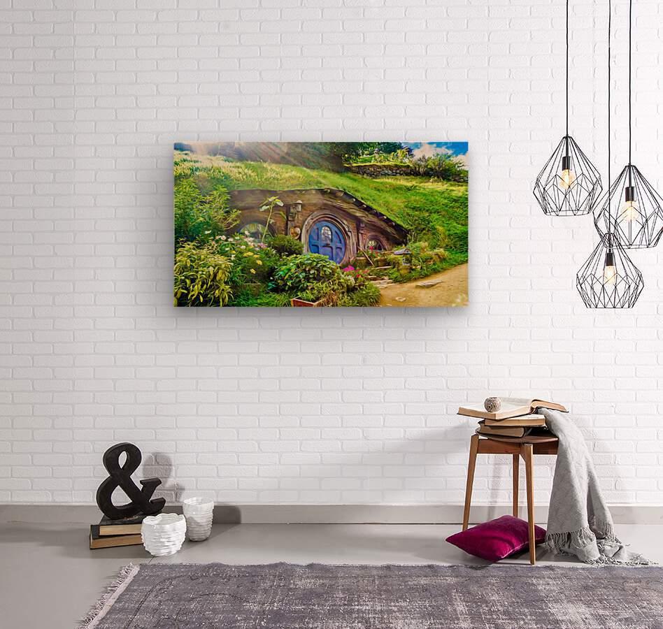 Hobbit Hole  Wood print