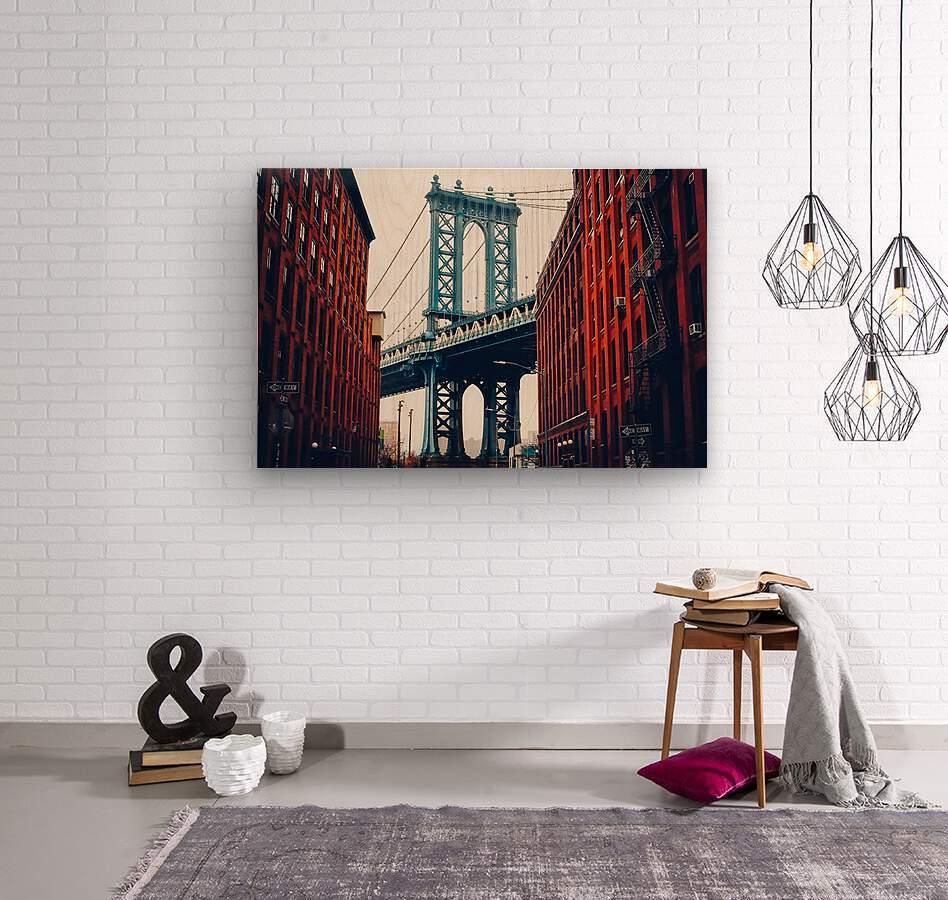 George Washington Bridge   Wood print