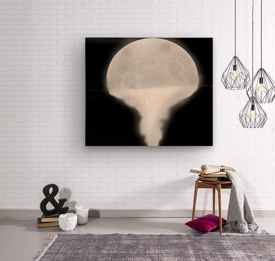 Moon Paint 5  Wood print