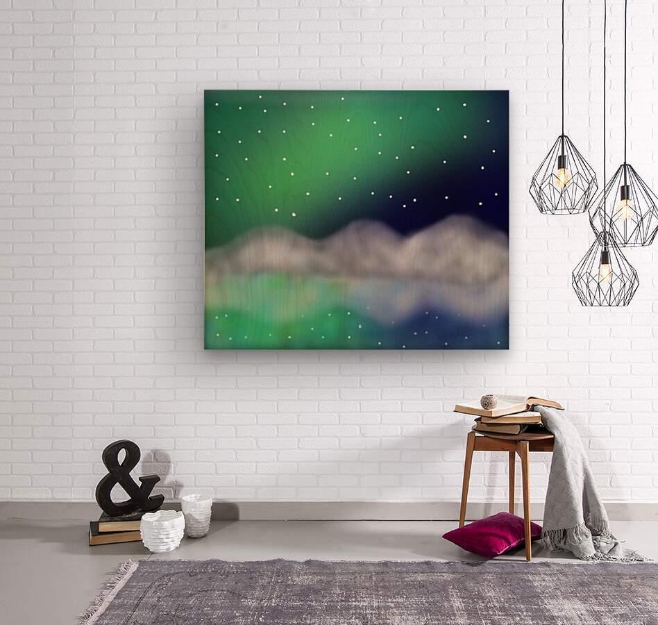 Northern Light 1  Wood print