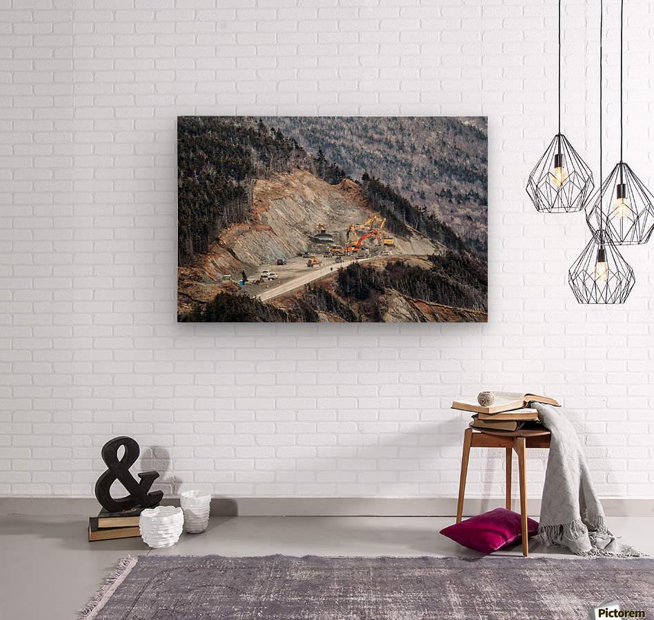 Mountain Moving  Wood print