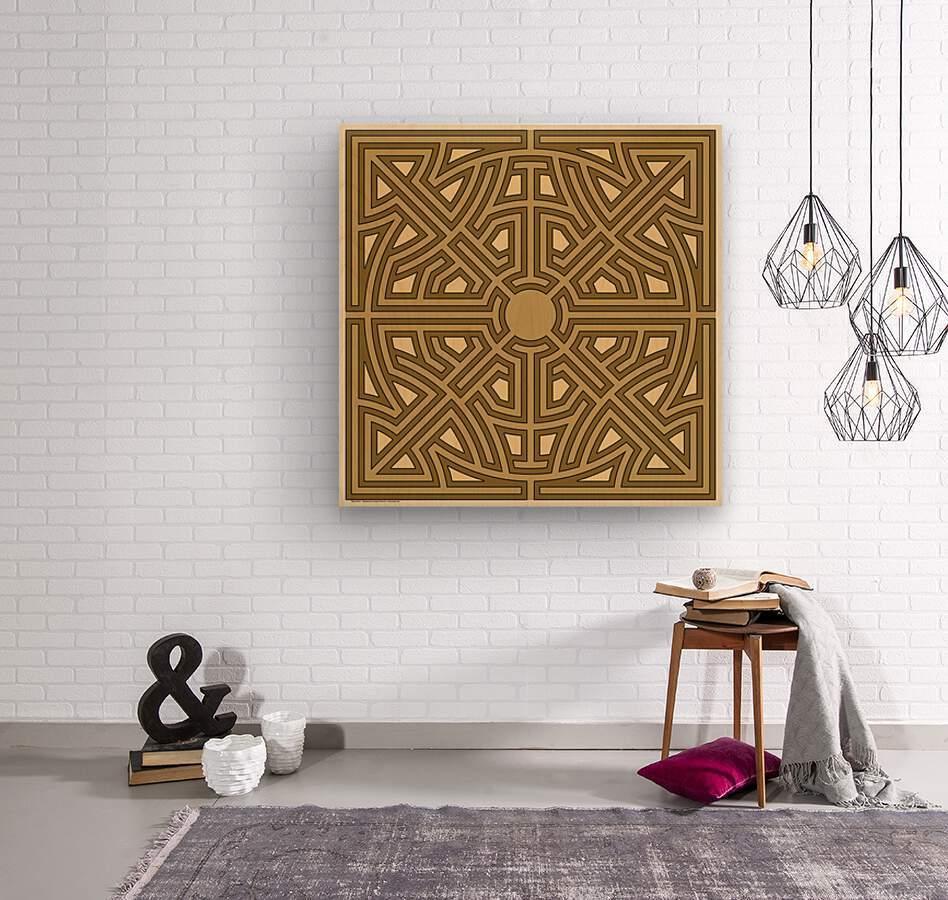 Maze 6012  Wood print